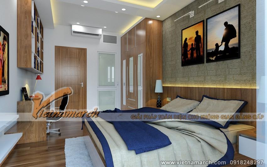 Thiết kế nội thất chung cư Đông Đô - Phòng ngủ lớn dành cho bố mẹ 03