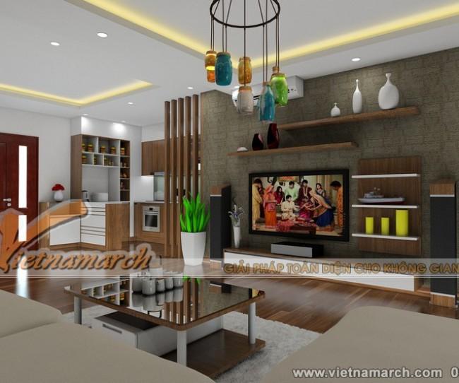 Thiết kế nội thất chung cư Đông Đô - căn hộ 1806 nhà anh Quyết