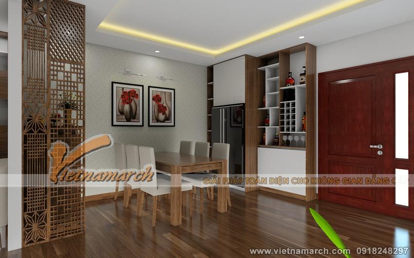Thiết kế nội thất phòng ăn chung cư Đông Đô - 100 Hoàng Quốc Việt, nhà Anh Quyết 01.