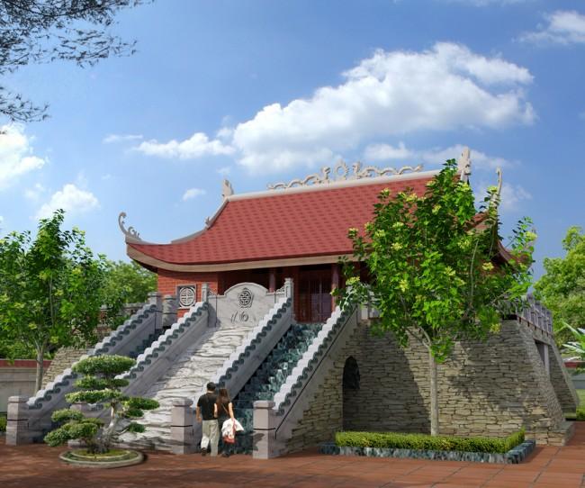 Thiết kế nhà thờ họ Hoàng Ân Thi - Hưng Yên