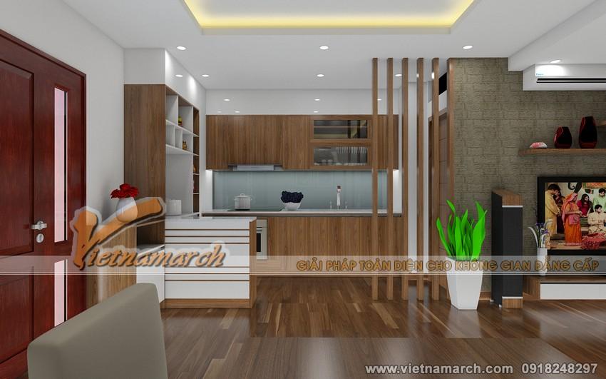 Đây cũng là xu hướng thiết kế nội thất chung cư hiện đại ngày nay, để tạo không gian mở cho những căn hộ chung cư có diện tích nhỏ