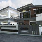 Thiết kế biệt thự mặt phố 2 tầng hiện đại tại Hưng Yên