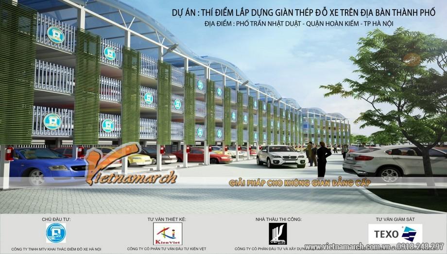 Điểm đỗ xe thông minh - Trần Nhật Duật được công ty CP Kiến Việt = Vietnamarch tư vấn thiết kế
