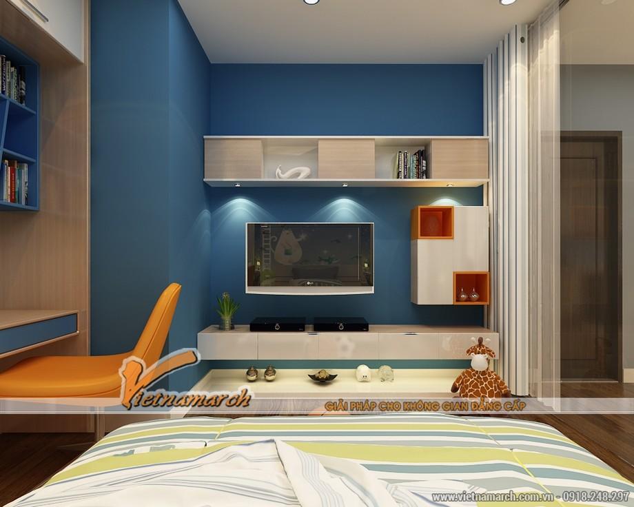 Thiết kế nội thất chung cư Đông Đô - hoàn thiện nội thất cho phòng ngủ của trẻ
