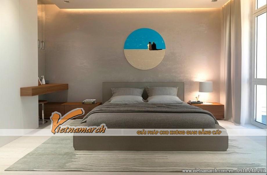 Phòng ngủ thiết kế đơn giản với màu sắc sáng