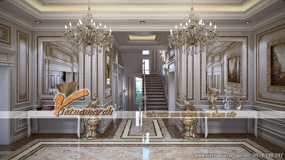 Các đồ nội thất được thiết kế mạ vàng rất sang trọng