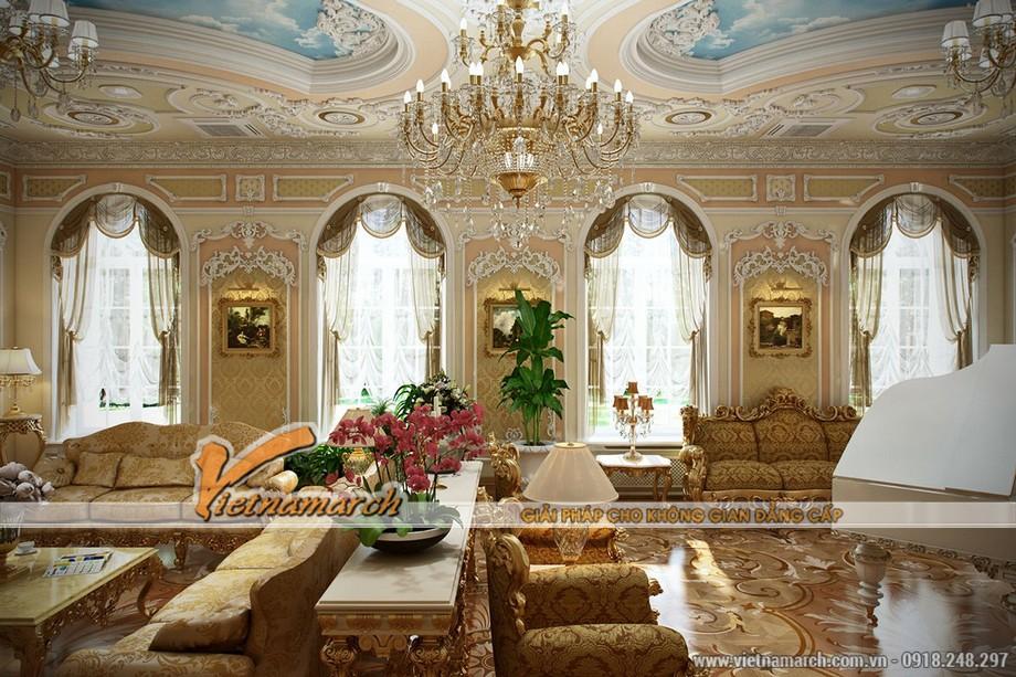 Thiết kế nội thất mang đậm phong cách Louis XV