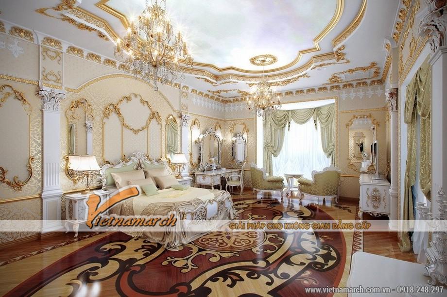 Một phòng ngủ khác được thiết kế nội thất cổ điểm theo phong cách hoàng gia