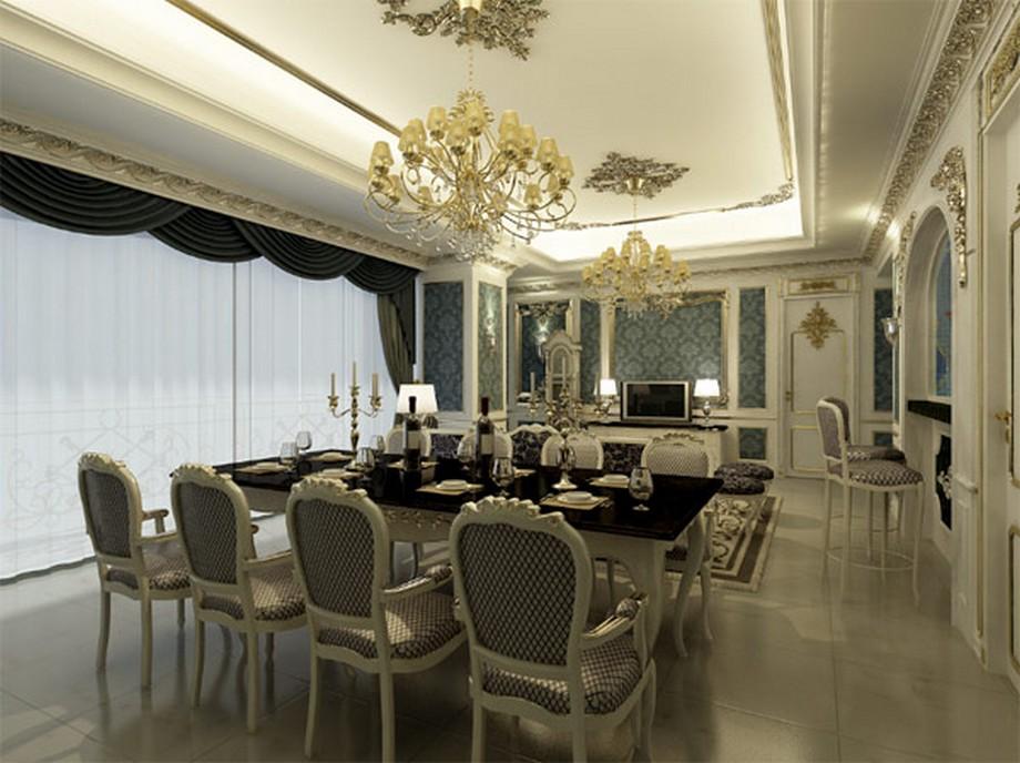 Phòng ăn được thiết kế mang phong cách tân cổ điểnLouis Pháp