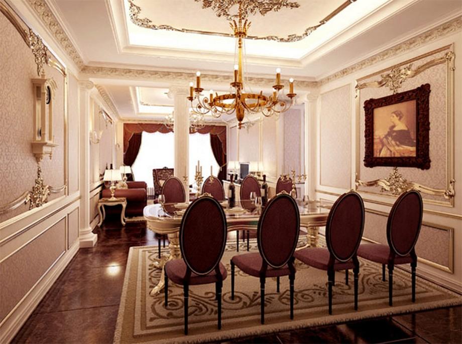 Một căn hộ mẫu khác được thiết kế dựa trên ý tưởng nội thất cổ điển phong cách Louis XV của Pháp