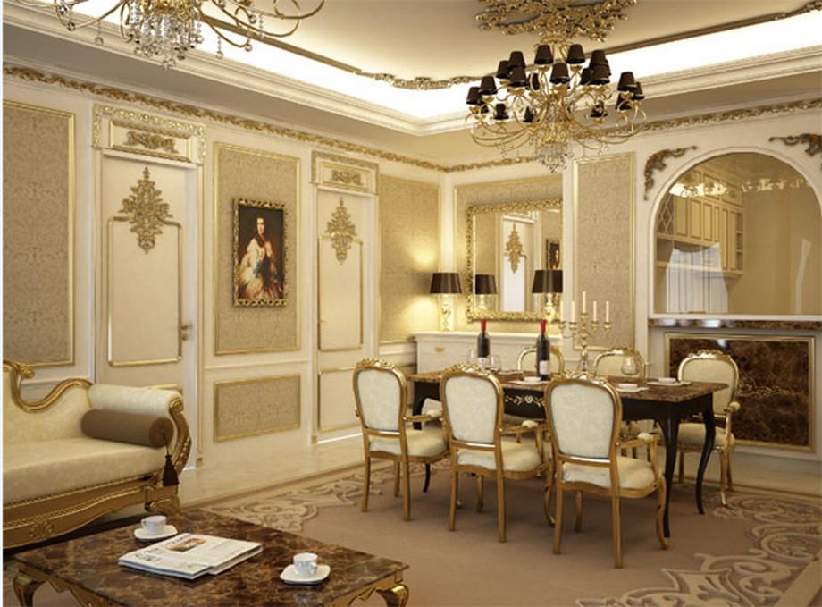 Nội thất tân cổ điển trong căn hộ mẫu thuộc chung cư D'.Palais de Louis - Nguyễn Văn Huyên - Tân Hoàng Minh