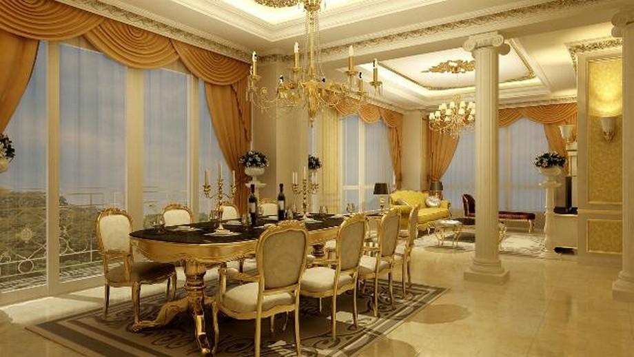 Một căn hộ mẫu khác thiết kế theo phong cách quý tộc