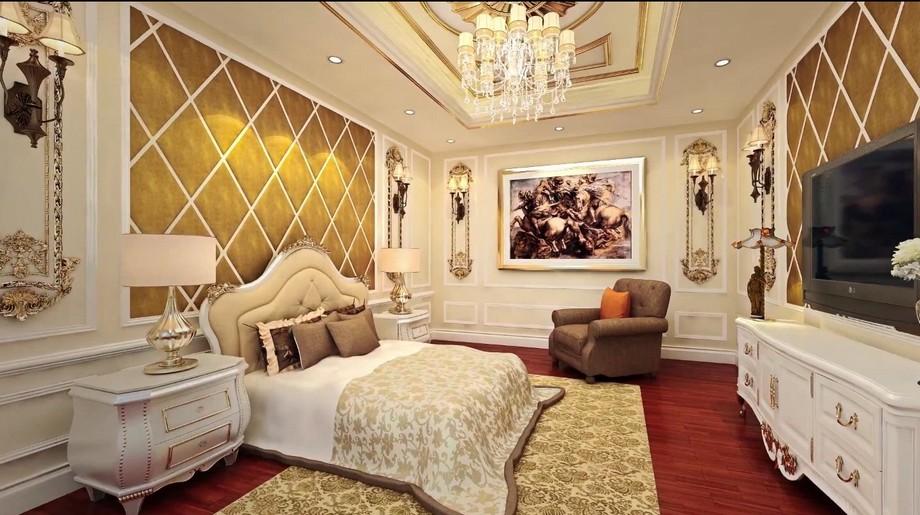 Nội thất tân cổ điển trong căn hộ mẫu D'. PALAIS DE LOUIS - Tân Hoàng Minh