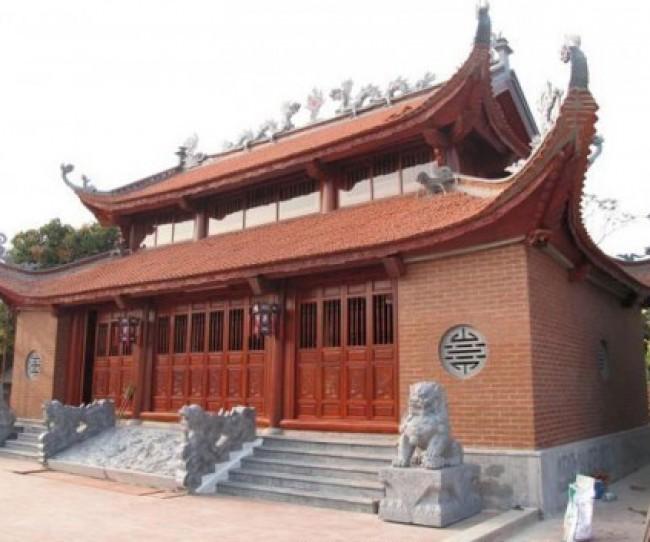 Thiết kế nhà thờ họ Đinh 2 tầng 8 mái ở Tuyên Hóa - Quảng Bình
