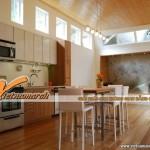 Làm ấm không gian sống bằng nội thất nhà bếp tông màu nâu
