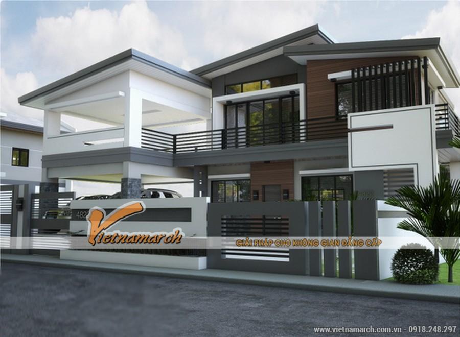 Kiến trúc hiện đại của ngôi biệt thự mặt phố nhà chú Hà