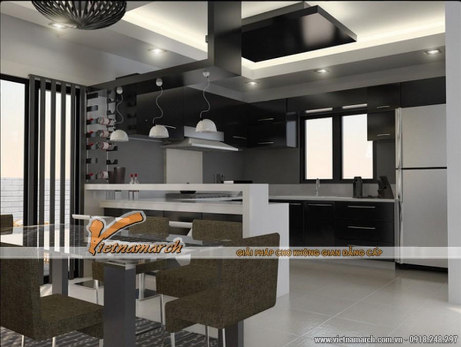 Nội thất phòng bếp hiện đại và đầy đủ tiện nghi