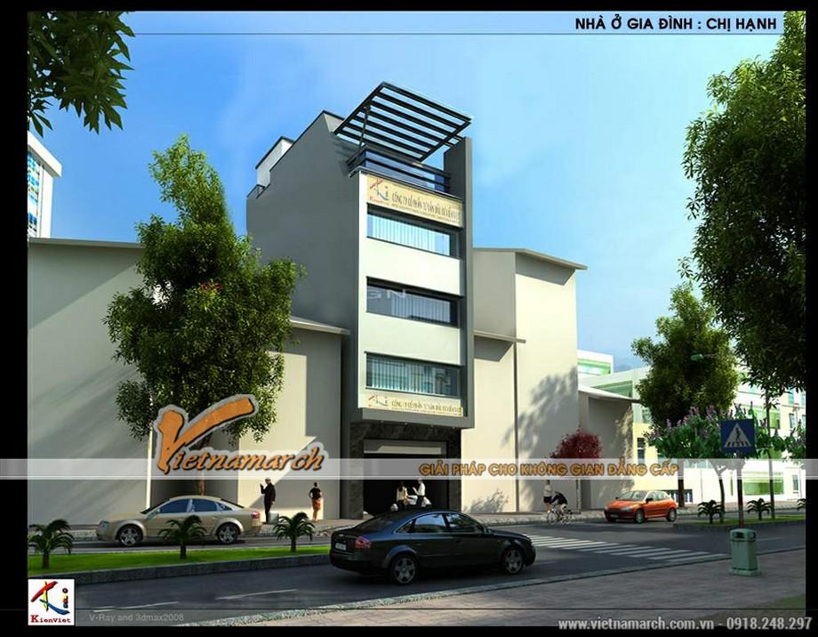 Mô hình phối cảnh 3D cho nhà 5 tầng mặt phố
