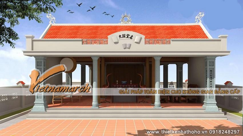 Kiến trúc thiết kế nhà thờ họ Vũ với nhà thờ tiền tế
