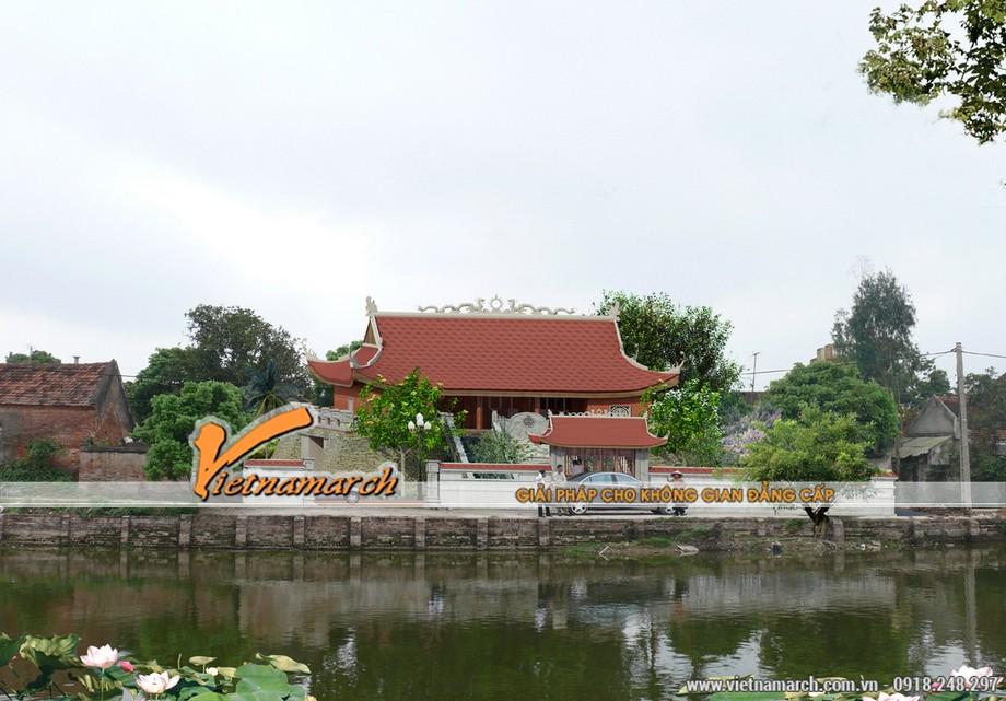 Mặt trước của thiết kế nhà thờ họ Hoàng Ân Thi - Hưng Yên