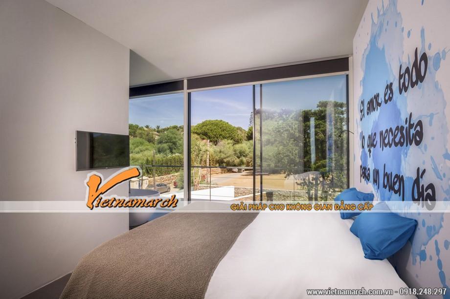 Thiết kế nội thất phòng ngủ hướng biển