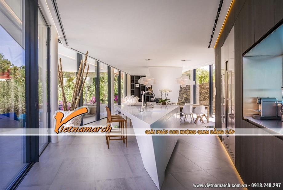 Thiết kế nội thất biệt thự độc đáo với phòng bếp tinh tế từ mọi góc nhìn