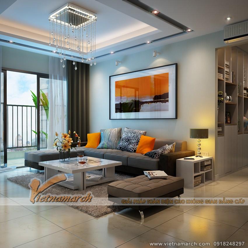 Nội thất phòng khách chung cư Đông Đô 100 Hoàng Quốc Việt 01.