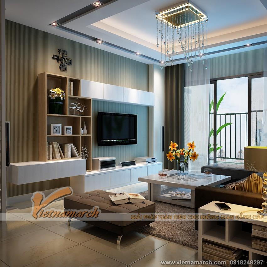 Nội thất phòng khách chung cư Đông Đô 100 Hoàng Quốc Việt 02.