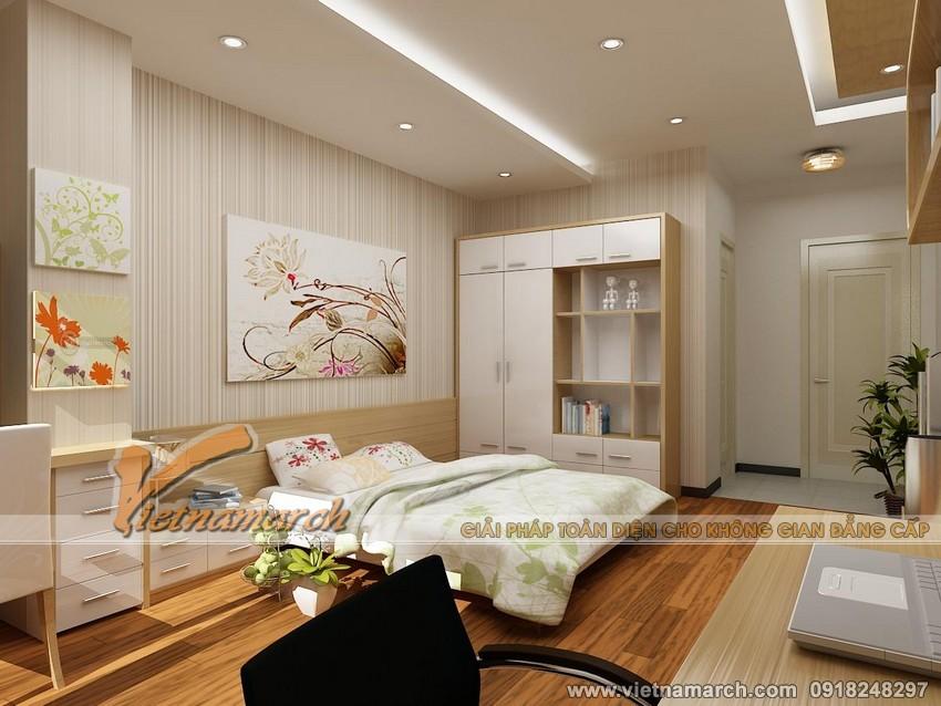 Nội thất phòng ngủ nhỏ cho con chung cư Đông Đô 100 Hoàng Quốc Việt.