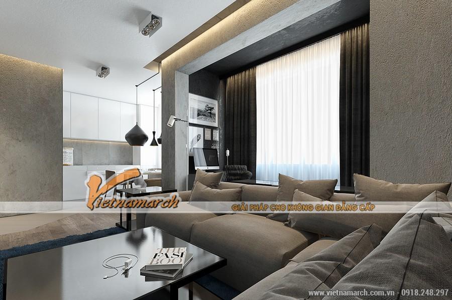Nội thất phòng khách của nhà anh Hoàng Đức Hải - Thiết kế thi công nội thất chung cư Park Hill
