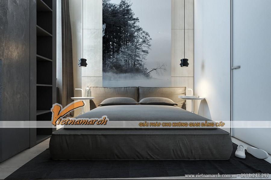 Phòng ngủ ấm cúng với tông màu ấm cúng