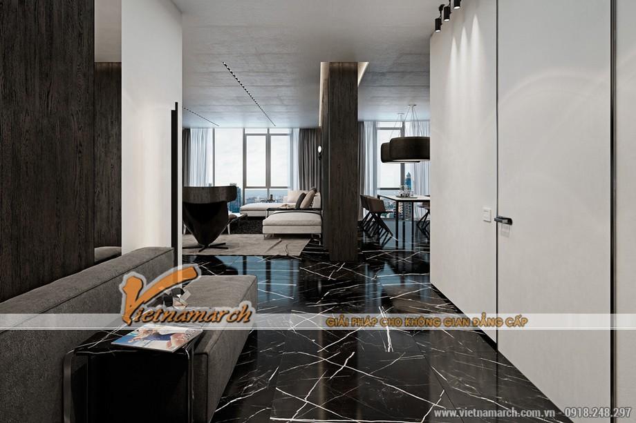 Sàn nhà được ốp đá cao cấp Grantine phần nào làm tôn thêm vẻ đẳng cấp của căn hộ