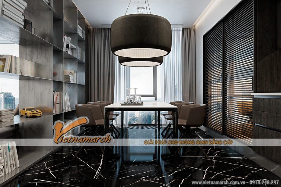 Vietnamarch lên phương án thiết kế nội thất phòng ăn cao cấp cho căn hộ chung cư Trung Kính