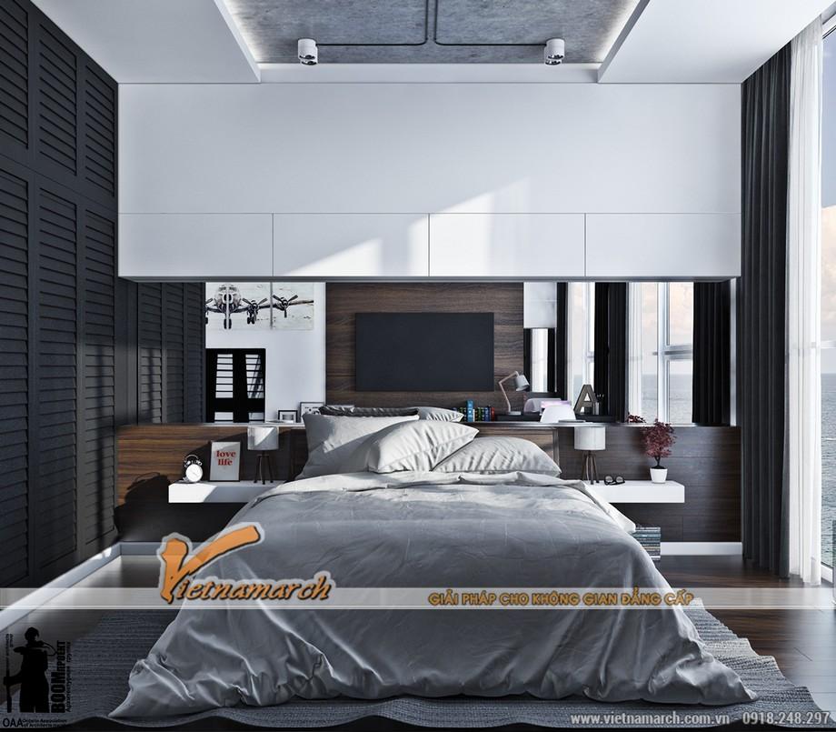 Thiết kế nội thất phòng ngủ hiện đại mà ấm áp