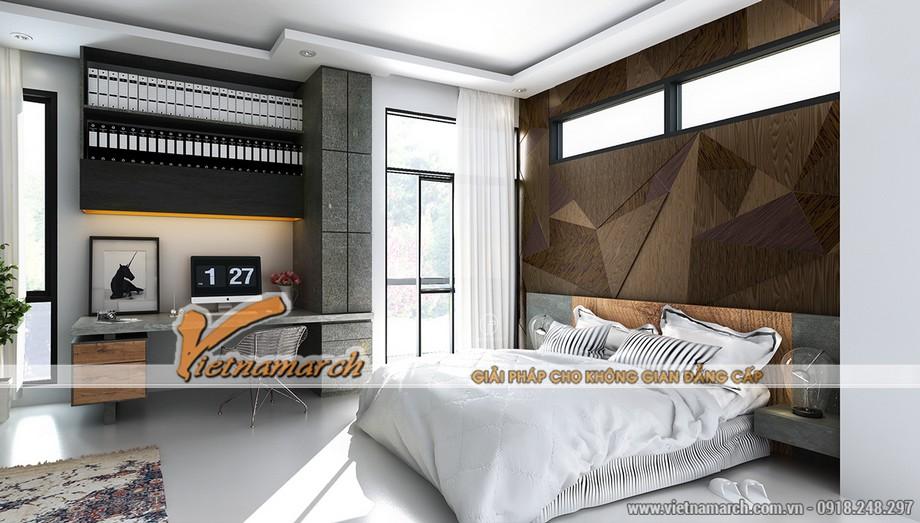 Nội thất phòng ngủ đẹp trong căn hộ AA tòa B chung cư Trung Kính