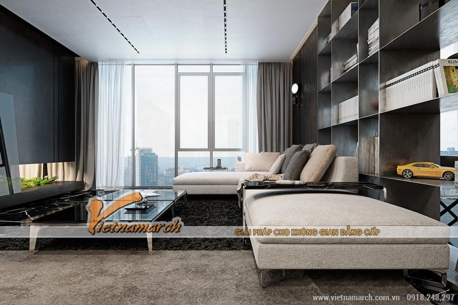Thiết kế nội thất phòng khách chung cư Trung Kính căn hộ AA tòa B