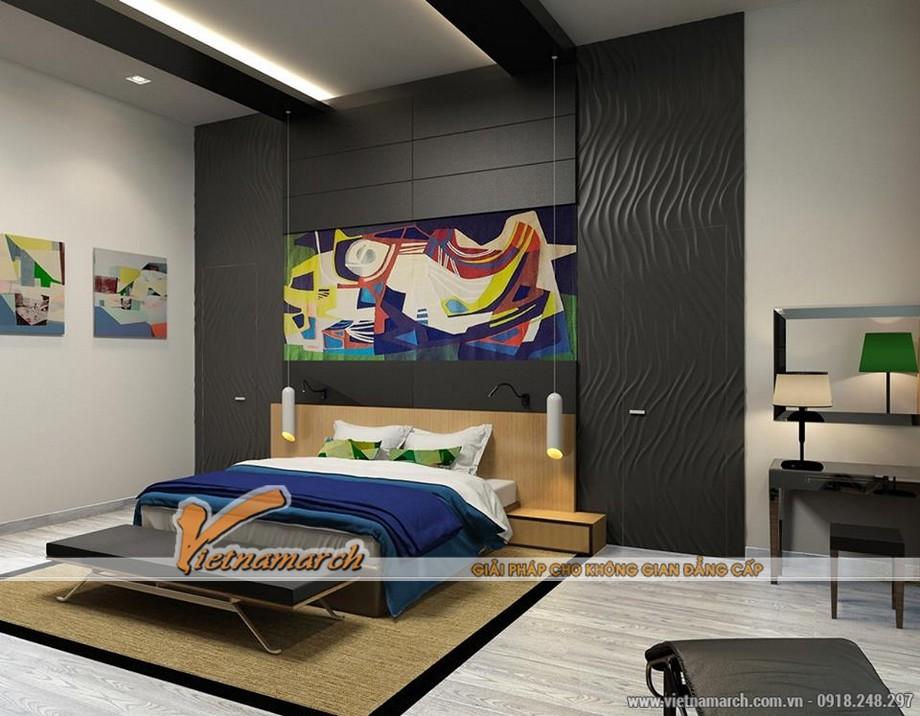 Thiết kế nội thất chung cư Trung Kính - Phòng ngủ lớn 1