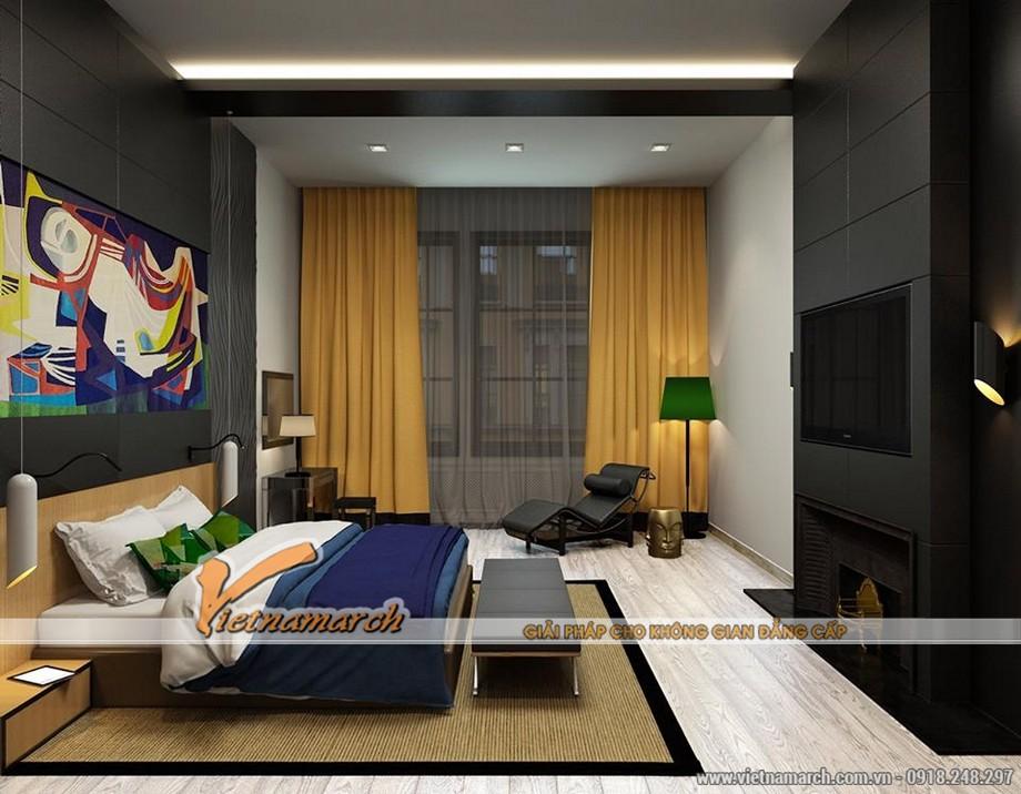 Thiết kế nội thất chung cư Trung Kính - Thiết kế phòng ngủ