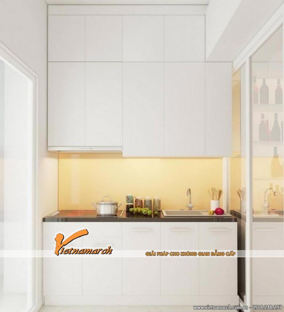 Thiết kế nội thất chung cư phòng bếp của căn hộ chung cư 70m2