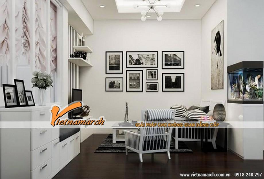 Không gian phòng khách - Thiết kế nội thất chung cư Goldmark City