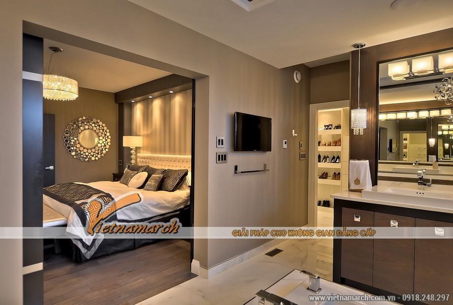 Phòng ngủ thứ hai được thiết kế hiện đại với tiện nghi đầy đủ