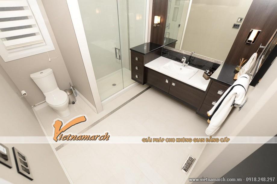 Thiết kế nội thất phòng tắm trong ngôi biệt thự Vinhomes Riverside
