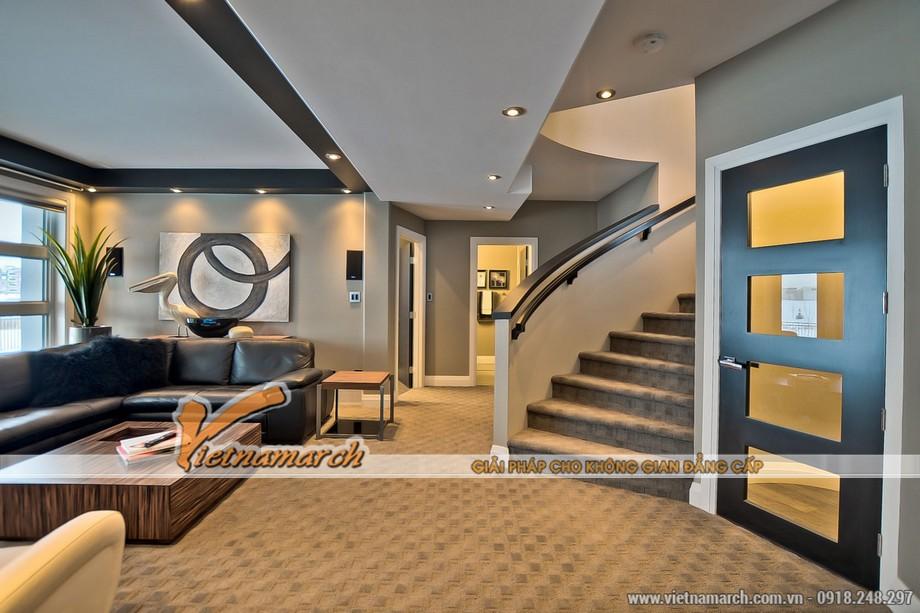 Thiết kế nội thất phòng khách khách trên tầng hai