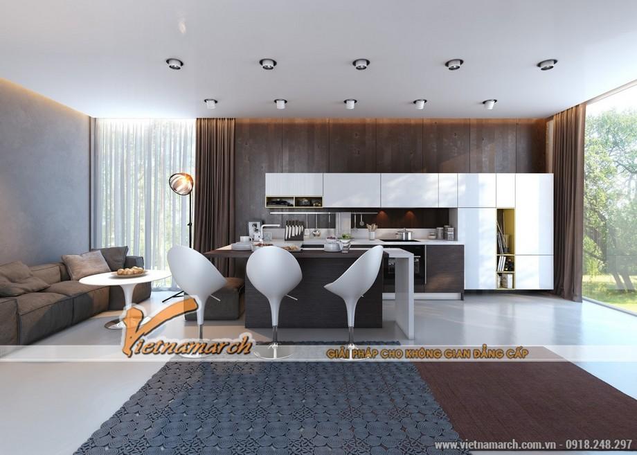 Nội thất nhà bếp hiện đại phương án thiết kế nội thất phòng bếp 01