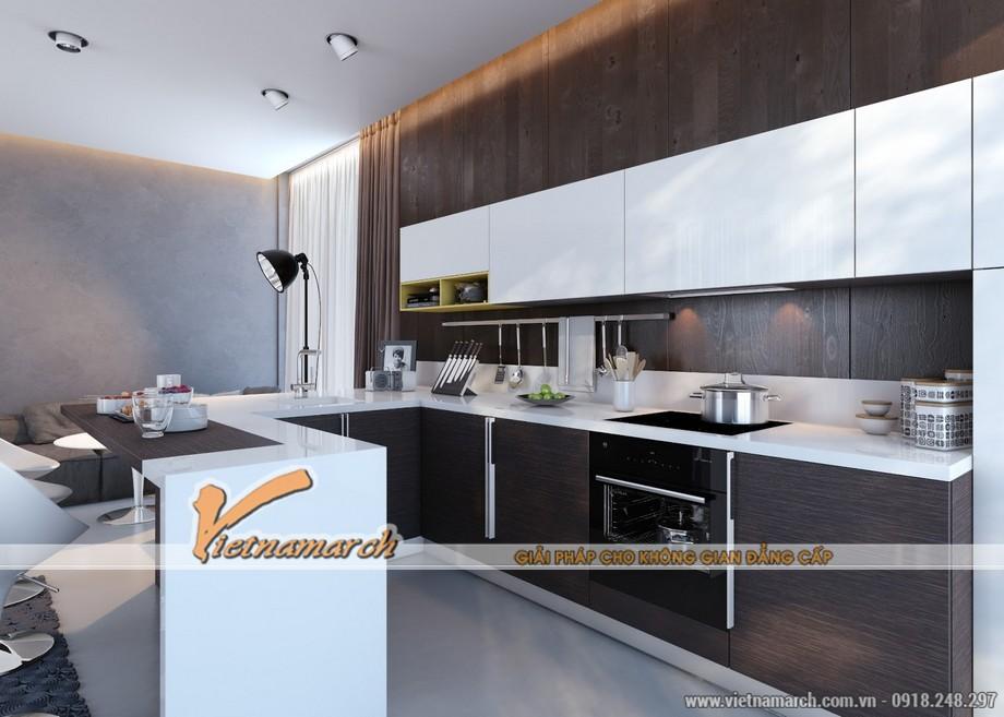 Cách sắp xếp đồ đạc ngăn lắp mang lại không gian hiện đại cho phòng bếp