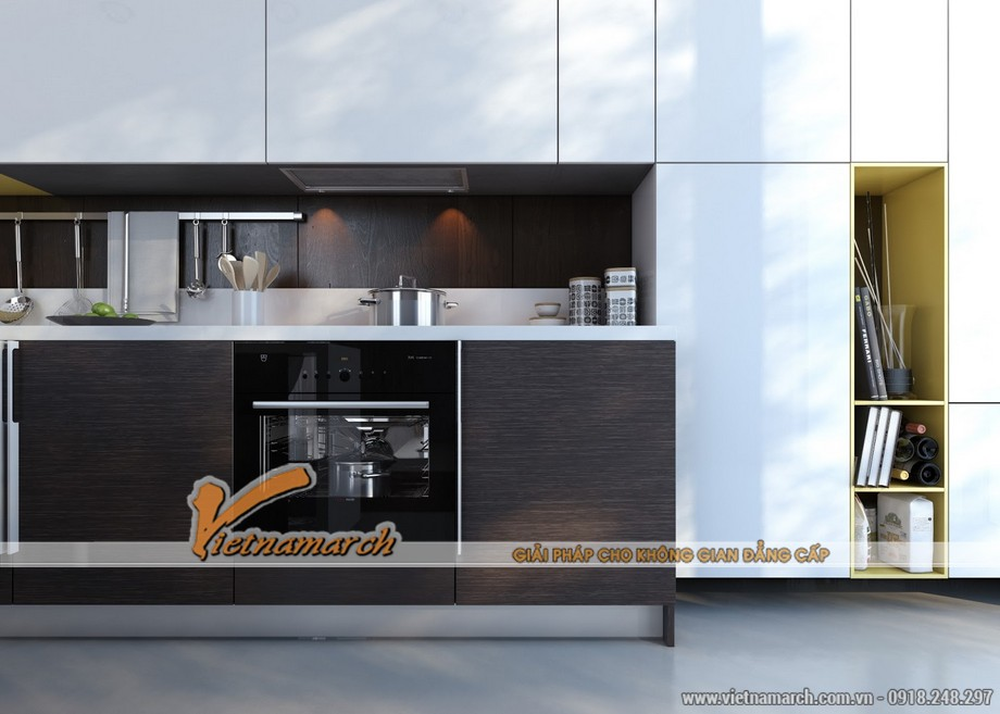 Mẫu tủ bếp cao cấp hiện đại và tiện nghi