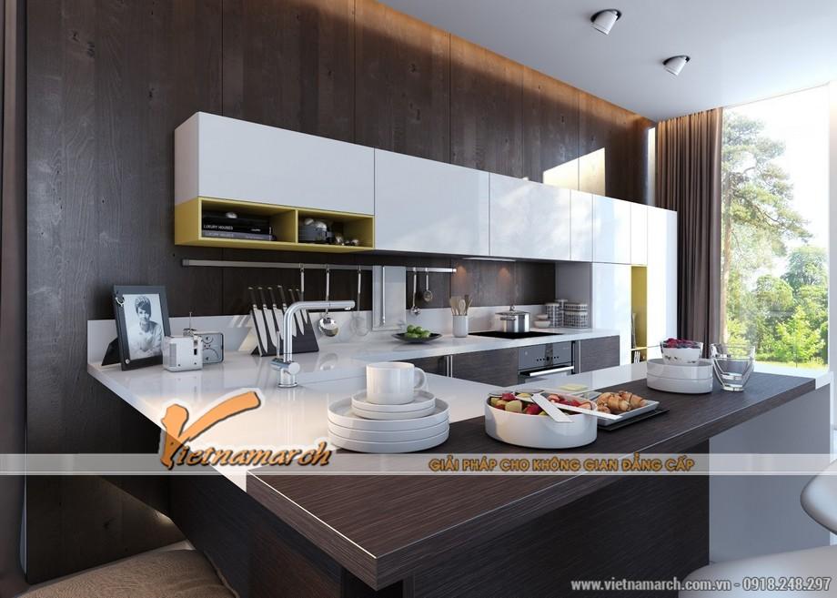 Không gian nội thất phòng bếp hiện đại