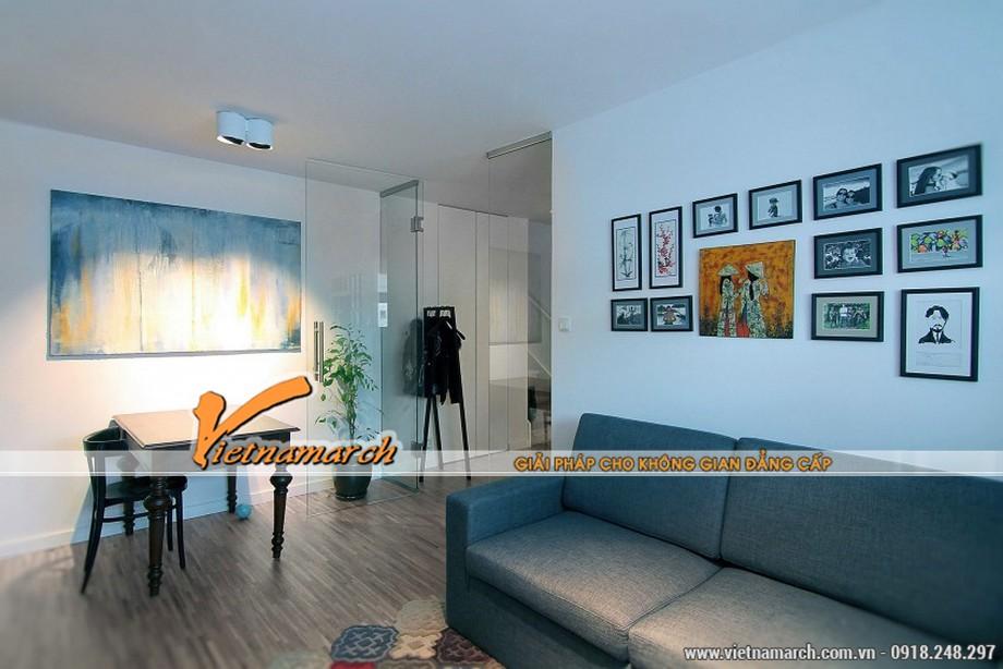 Thiết kế nội thất phòng khách đơn giản, ấm cùng cho gia đình
