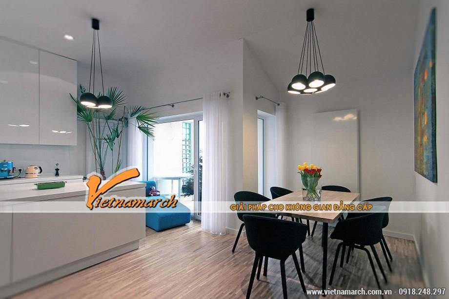 Thiết kế nội thất phòng ăn nhẹ nhàng