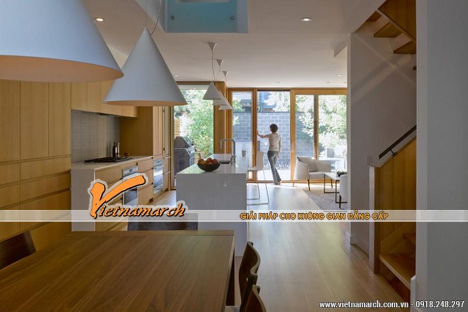 Thiết kế nội thất nhà phố với 2 bếp rộng rãi